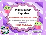 Multiplication Basic Fact Practice---Cupcake Theme