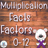 Multiplication Basic Facts Factors 0-10 and 1-12 Practice