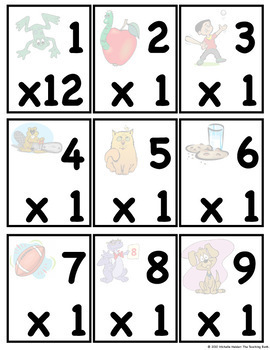Multiplication Facts Mastery Flash Cards, Assessments, Times Table