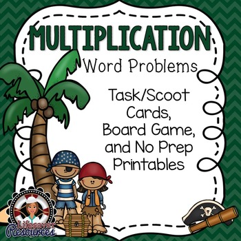 Multiplication Game - Word Problems with Printable Worksheets