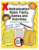 Multiplication Basic Facts, Games and Activities