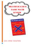 Multiplication Basic math facts