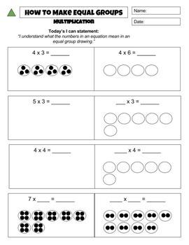 Equal Group Drawings : Multiplication