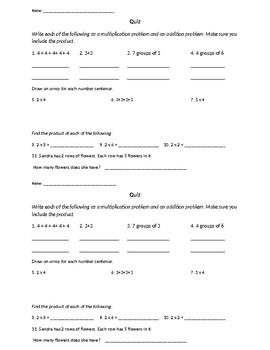 Multiplication Basics Quiz