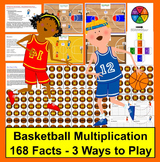 Multiplication Basketball Math Centers- 3 Ways To Play - 168 Mutiplication Facts