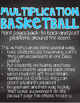Multiplication Basketball Task Cards