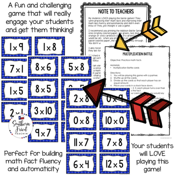 Multiplication Facts - Fun Game to Practice Math Facts