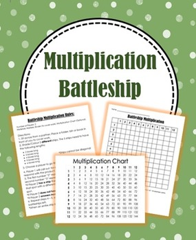 Multiplication Battleship (Includes Class Discussion Qs and Chart)