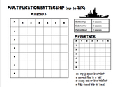Multiplication Battleship - Up to X6