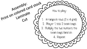 Multiplication Bean Bag Toss