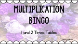 Multiplication Bingo - 1 and 2 Times Tables