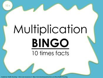 Multiplication Bingo 10x