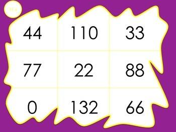 Multiplication Bingo 11x