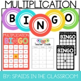 Multiplication Bingo 2, 3, and 4 digits by 1-digit with Re