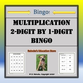 Multiplication Bingo 2-Digit by 1-Digit (30 pre-made cards!!!)