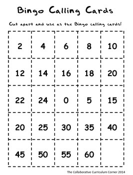 Multiplication Bingo: 2 and 5 Facts (Monster Themed)