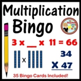 Double Digit Multiplication Bingo - Classroom Game w/ 35 Cards!