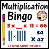 Two Digit Multiplication Bingo Classroom Game w/ 35 Cards!
