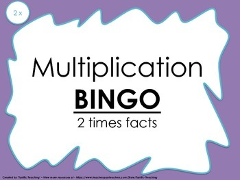 Multiplication Bingo 2x