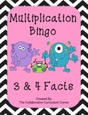 Multiplication Bingo: 3 and 4 Facts (Monster Themed)