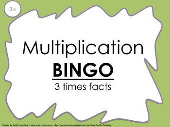 Multiplication Bingo 3x