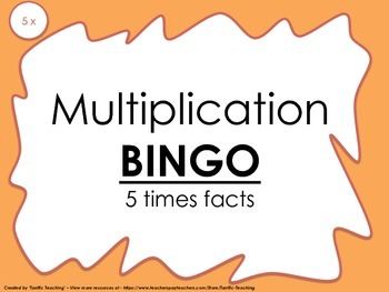Multiplication Bingo 5x
