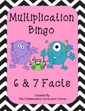 Multiplication Bingo: 6 and 7 Facts (Monster Themed)