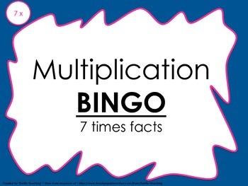 Multiplication Bingo 7x