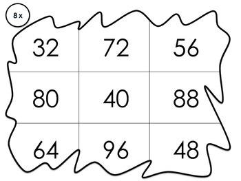Multiplication Bingo 8x