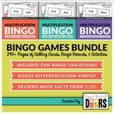 Multiplication Bingo: Bundle (Math Facts of 1-12)