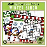 Multiplication Bingo- Christmas / Winter Edition