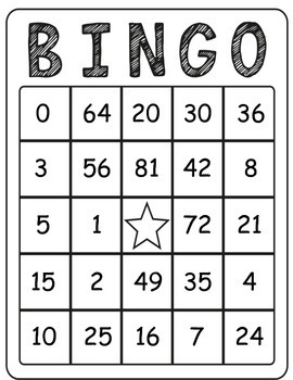 It is a graphic of Handy Printable Maths Bingo