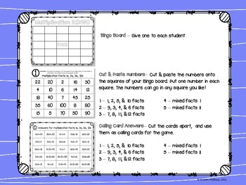 Multiplication Bingo: Create a Board