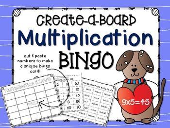 Multiplication Bingo: Create a Board