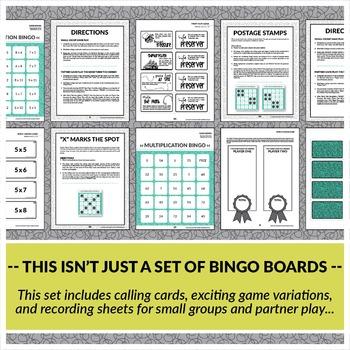 Multiplication Bingo: Factors of 5-8