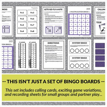 Multiplication Bingo: Factors of 9-12