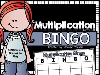 Multiplication Bingo (Facts 1-10)