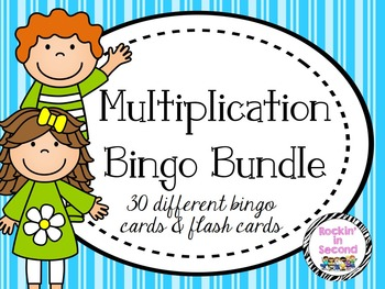 Multiplication Bingo & Flash Cards 0-12
