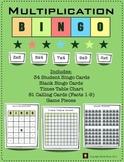 Multiplication Bingo Game:  Facts 1-9