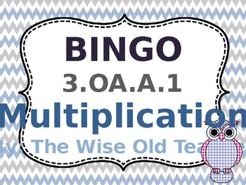 Multiplication Bingo Game PPT with Blank Bingo Cards 3.OA.A.1