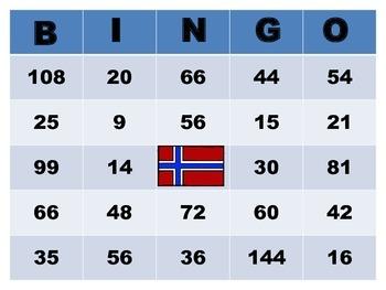 Multiplication Bingo (Global Style)