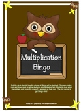 Multiplication Bingo Owl Theme