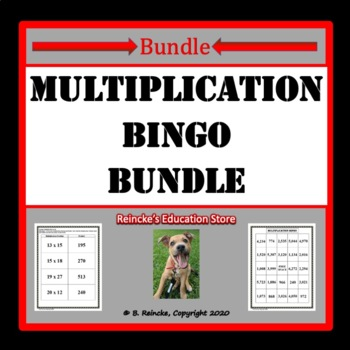 Multiplication Bingo Package (3 products)
