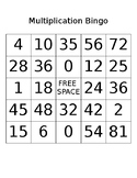 Multiplication Bingo Set
