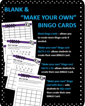 Multiplication Bingo - Times 5 Facts (30 pre-made cards, flashcards, & more!)