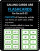 Multiplication Bingo - Times 6 Facts (30 pre-made cards, f