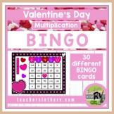 Multiplication Bingo- Valentine's Day Edition