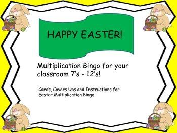 Multiplication Bingo for your classroom 7's - 12's!
