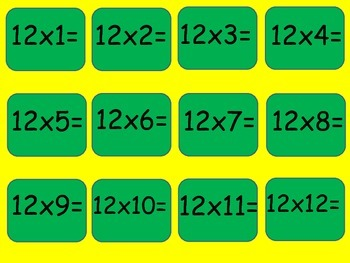 Multiplication Bingo for your classroom 7's - 12's!