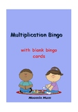Multiplication Bingo with blank Bingo Cards